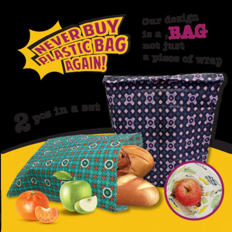 PLF2535 Beeswax Reusable Food Bag
