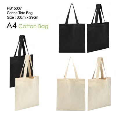 COTTON TOTE BAG A4 SIZE_PB15007
