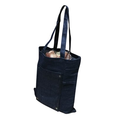 FOLDABLE DENIM BAG TOTE BAG_PB1710195U