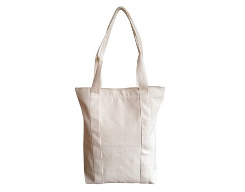 Canvas Tote bag with zipper locking_PB181014R