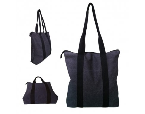 Snow Canvas Tote Bag with zipper locking_PB1901300U
