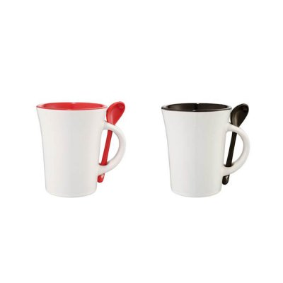 Ceramics Mug with spoon_PD6300