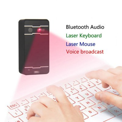 IRTUAL LASER KEYBOARD WITH MOUSE AND SPEAKER