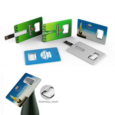 Credit Card USB design with Bottle Opener