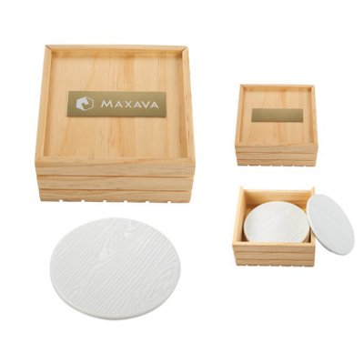 COASTER SET WOODGRAAIN CERAMIC_PH1031-77